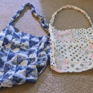 Free People linen sling bags